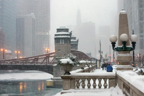 Snow Pushers Chicago — Examples (Snow Removal — Residential Roofs)