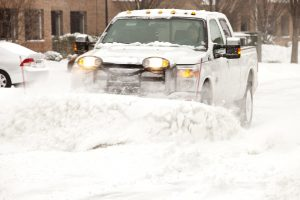 Snow plowing services in Chicago